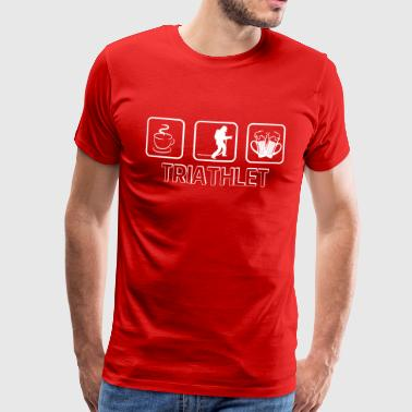 Triathlete fire department - Men's Premium T-Shirt