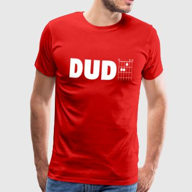Dude in Guitar Chords - Men's Premium T-Shirt
