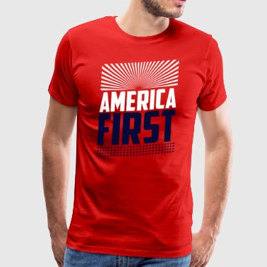 ★ America First ★ Donald Trump Republican T-Shirt - Männer Premium T-Shirt
