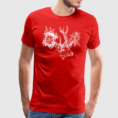 Black Forest hart, clock, grapes - Men's Premium T-Shirt
