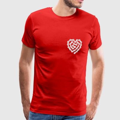 Heart of chain links - Men's Premium T-Shirt