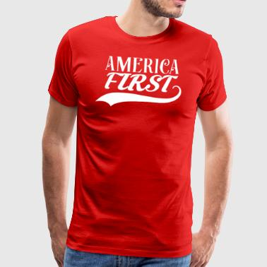 ★ America First ★ Donald Trump republicano USA MAGA - Camiseta premium hombre