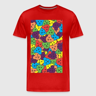 Rainbow Jumble Teds.jpg - Men's Premium T-Shirt