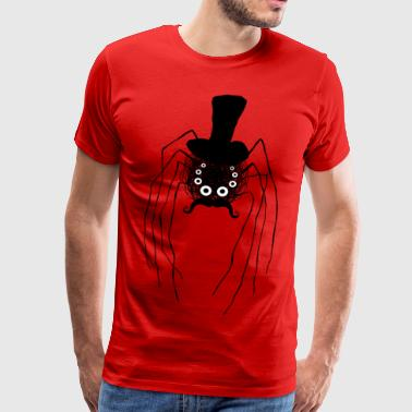 Steampunk spider with cylinder - Men's Premium T-Shirt