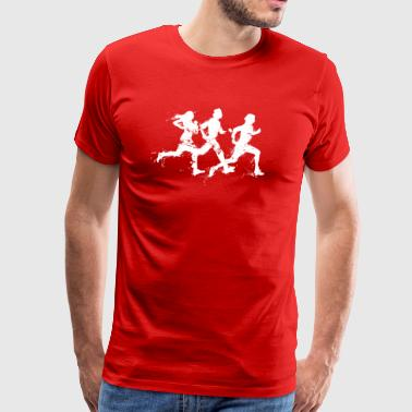 runners / people running the marathon - Mannen Premium T-shirt