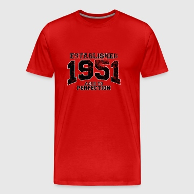 established 1951 - aged to perfection(uk) - Men's Premium T-Shirt