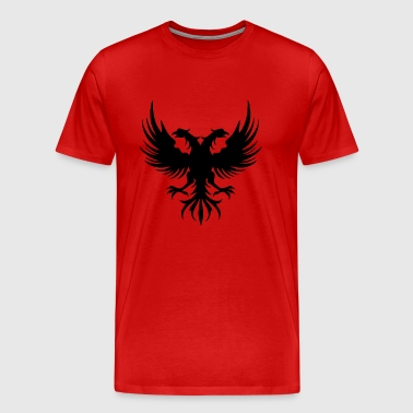 Two eagle Head of the flag of Albania - Men's Premium T-Shirt