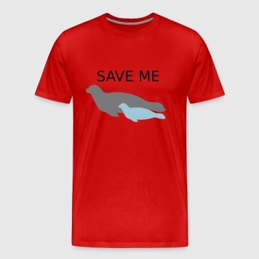 Ocean Seal with Calf Baby Save Me - T-shirt Premium Homme