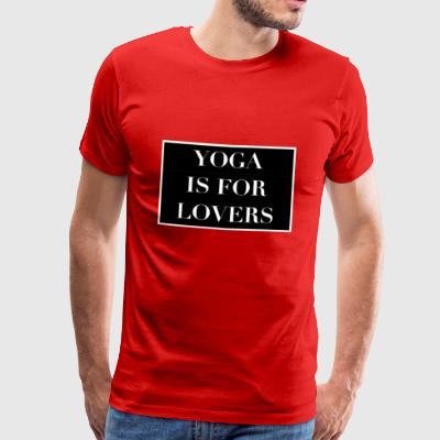 Yoga er for elskere - Herre premium T-shirt