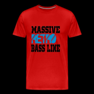 massive retro bass line - Men's Premium T-Shirt