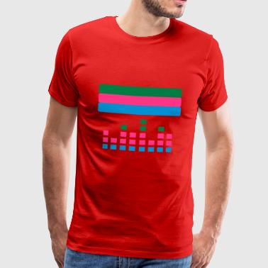 techno with soundbar - Men's Premium T-Shirt