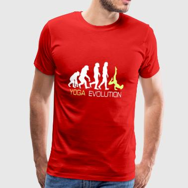 Evolution - Yoga-T-shirt gave - Herre premium T-shirt