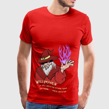 Viljestyrke Wizard Red / Purple Flame - Premium T-skjorte for menn