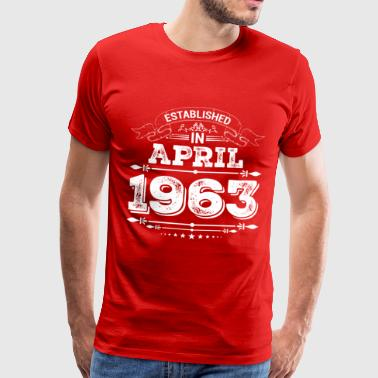 Etableret i april 1963 - Herre premium T-shirt