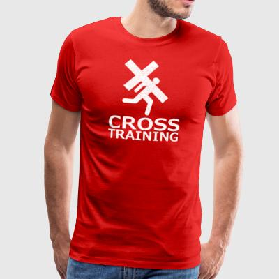 """Cross Training"" (sarkasme) - Premium T-skjorte for menn"