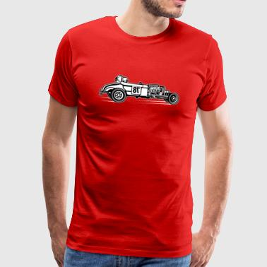 Hot Rod / Rat Rod 01_black white - Men's Premium T-Shirt