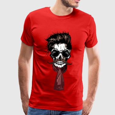 head of death hipster crane scarf scarf skull m - Men's Premium T-Shirt