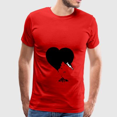 destroyed heart - Men's Premium T-Shirt