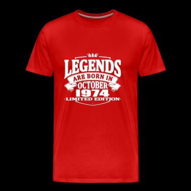 Legends are born in october 1974 - Men's Premium T-Shirt