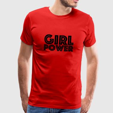 GIRL POWER - Premium T-skjorte for menn