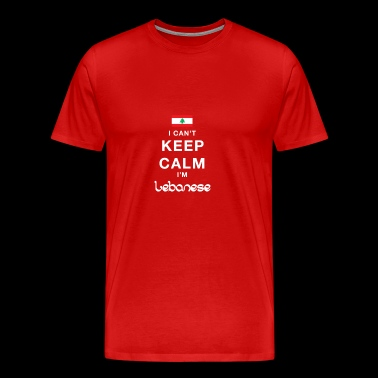 I CAN T KEEP CALM Lebanese - Men's Premium T-Shirt