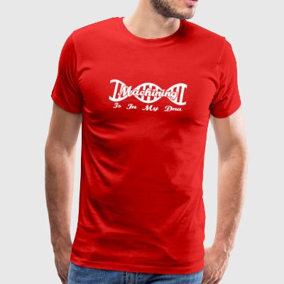 Dns dna evolutie hobby gift Machining - Mannen Premium T-shirt