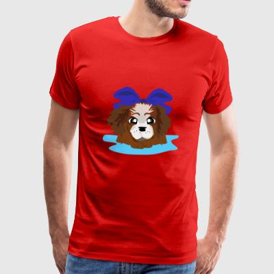 LOVELY BLUE PUPPY - Men's Premium T-Shirt