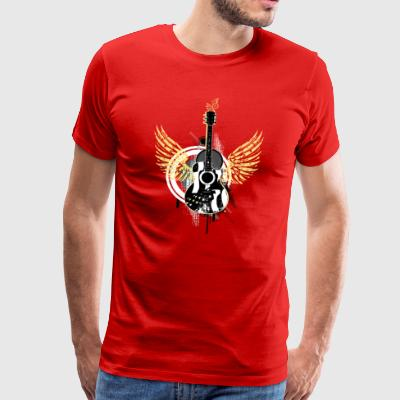 Guitar wings swing Graffiti rock music dance - Men's Premium T-Shirt