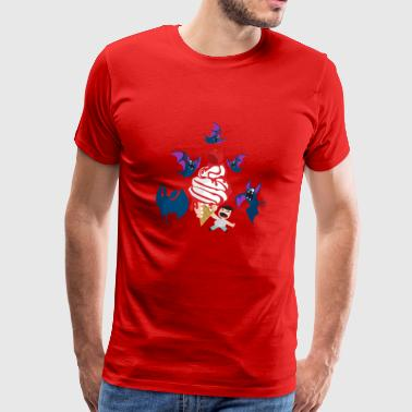 Pipistrelli_1 bat icecream - Men's Premium T-Shirt