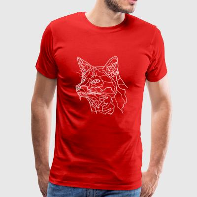 Snow Fox Line Art - Men's Premium T-Shirt