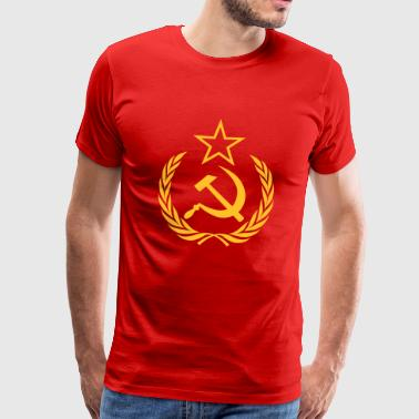 Cold War kommunist Flag - Premium T-skjorte for menn