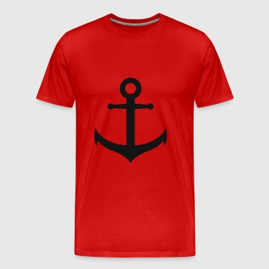 anchor, Hamburg harbor, anchor - Men's Premium T-Shirt