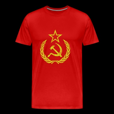 Vintage Communist Retro Sickle Hammer - Men's Premium T-Shirt