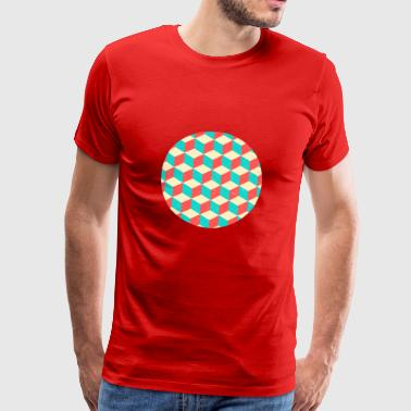 Cool Blocks Cercle Illusion Optique Résumé - T-shirt Premium Homme