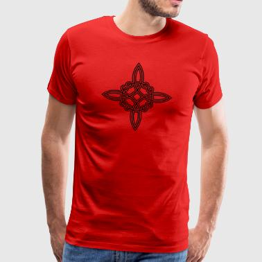 Wiccan witch knot witch symbol Celtic knot - Men's Premium T-Shirt