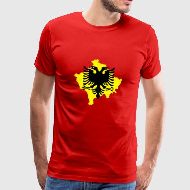 Albanian eagle with included kosovo outline - Men's Premium T-Shirt
