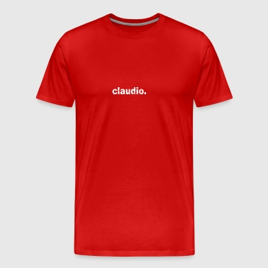 Gift grunge style first name claudio - Men's Premium T-Shirt