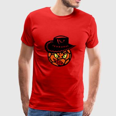 Handball Cowboyhut Gesicht Cartoon Gold - Männer Premium T-Shirt