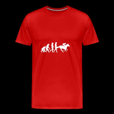 Jockey Evolution paardensport paardenraces - Mannen Premium T-shirt