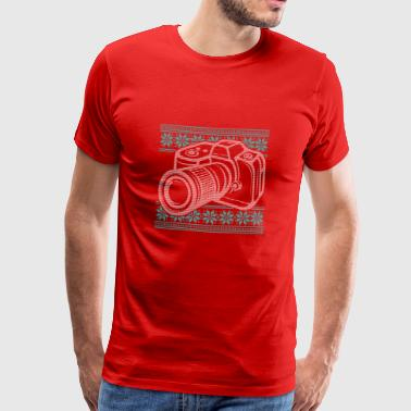 Store Ugly Sweater Camera Fotografie Vormgeving - Mannen Premium T-shirt