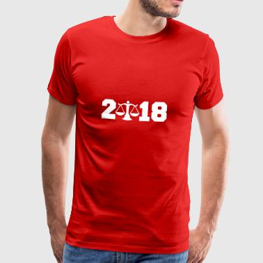 Gift 2018 New Year lawyer justice justice - Men's Premium T-Shirt