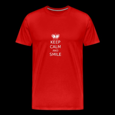 Keep calm and smile! - Men's Premium T-Shirt