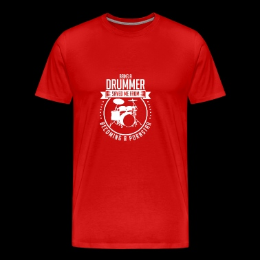 Drummer music instrument band gift idea - Men's Premium T-Shirt