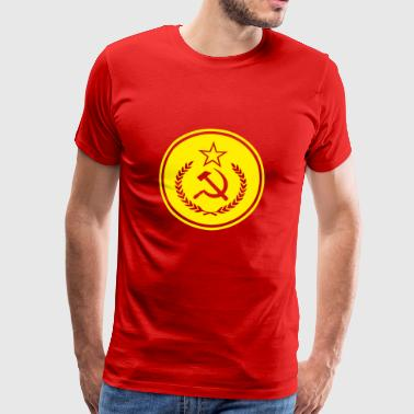Sickle Hammer Badge - Men's Premium T-Shirt