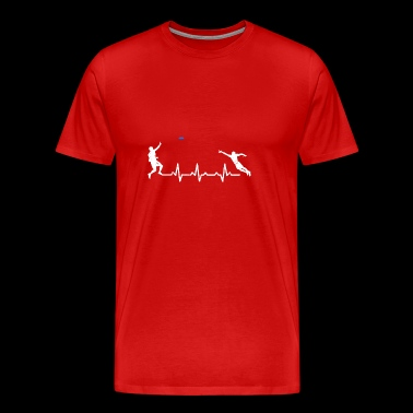 Heartbeats Ultimate Frisbee Sports T-shirt - Männer Premium T-Shirt