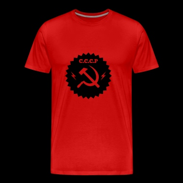 Communistische zwarte badge - Mannen Premium T-shirt