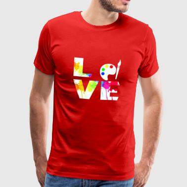 Fine Arts Lover Gift T-shirt - Men's Premium T-Shirt