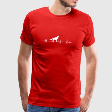 Heartbeat German Shepherd T-Shirt Gift - Men's Premium T-Shirt