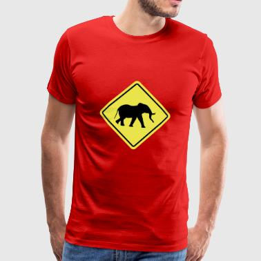 Elephant Sign - Herre premium T-shirt