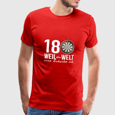 Dart 180 - Because the world is a disc - Men's Premium T-Shirt